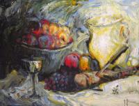 Gilbert Pécoud / Nature morte aux fruits